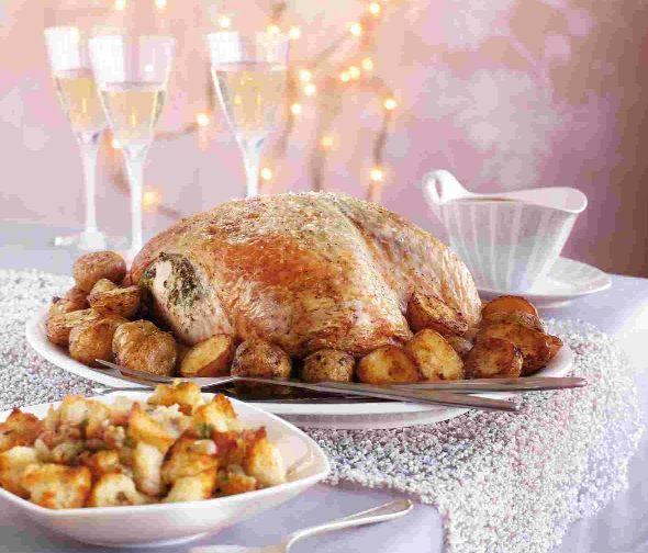 Christmas recipe: Herb-buttered turkey, roasties and cranberry sauce gravy
